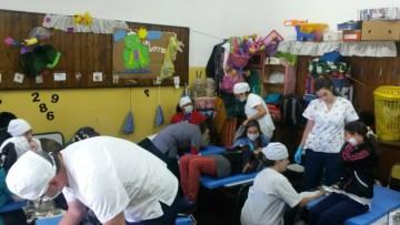 Vista Flores - Tunuyán. Salud Bucal: asistencia a estudiantes de la escuela Malvinas Argentinas