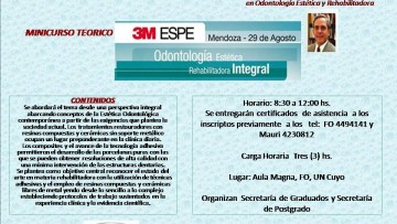 Minicurso Teórico: Odontología Estética Rehabilitadora Integral