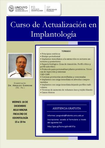 Curso de actualización en implantología
