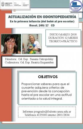 Actualización en Odontopediatría en la primera infancia (del bebé al pre escolar)