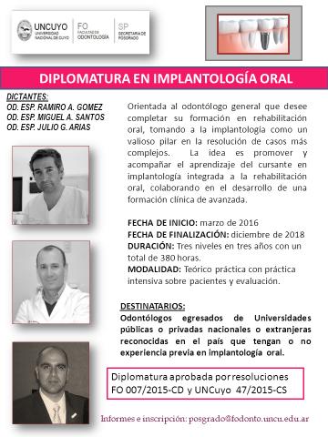 Diplomatura en Implantología Oral
