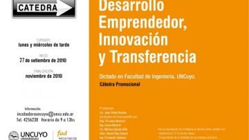 """Cátedra """"Desarrollo Emprendedor, Innovación y Transferencia"""