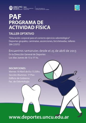 """""""Curso de Educación  Corporal para el Correcto Ejercicio Profesional, Año 2013"""""""