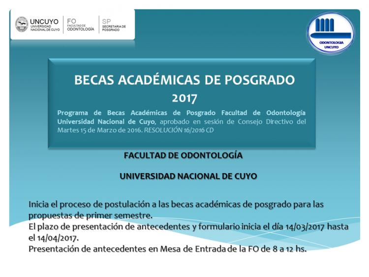 Becas Académicas de Posgrado 2017