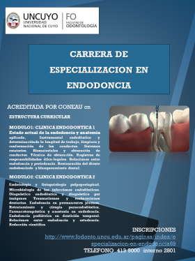 ESPECIALIZACION EN ENDODONCIA
