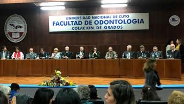 La Facultad de Odontología tuvo su Acto de Colación