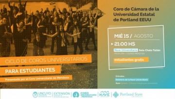 Coro de Cámara de la Universidad de Portland, visita la Nave Universitaria
