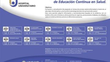 I Curso Universitario Interdisciplinario de Educación Continua en Salud