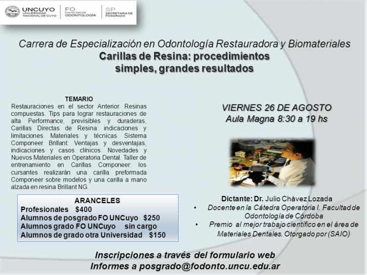 Curso Carillas de Resina: procedimientos simples, grandes resultados