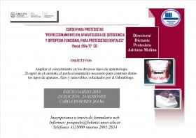 Perfeccionamiento en la Construccion de Aparatologia Para Ortodoncia Y Ortopedia Funcional