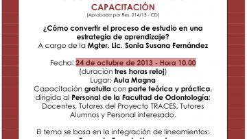 TRACES ODONTOLOGÍA INVITACIÓN A CAPACITACIÓN