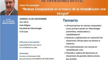 I JORNADAS INTERUNIVERSITARIAS DE OPERATORIA DENTAL