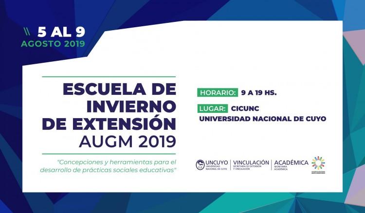 En la UNCUYO se realizará la Escuela de Invierno de Extensión AUGM 2019