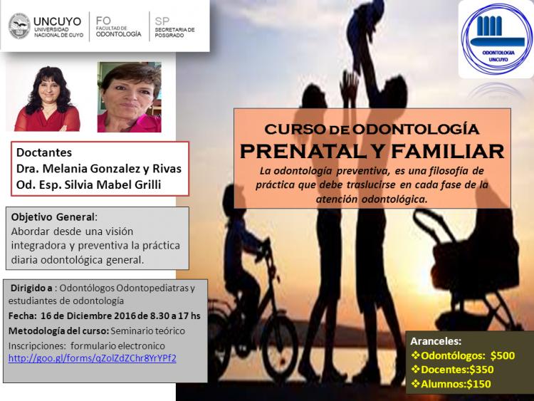 Curso de Odontología Prenatal y Familiar