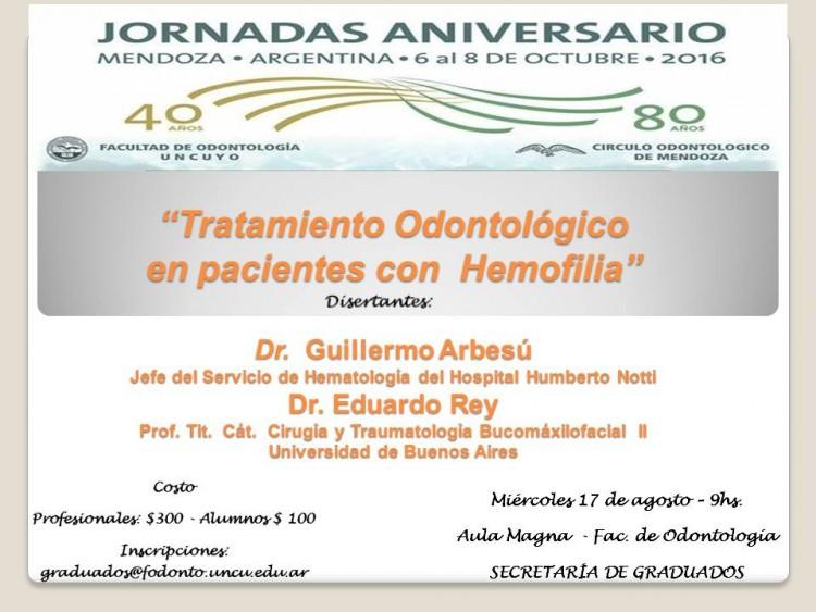 """Curso """"Odontología y Hemofilia"""""""