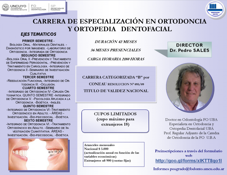 Carrera de Especialización en Ortodoncia y Ortopedia Dentofacial