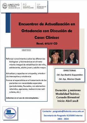 Encuentros de Actualización en ortodoncia con discusión de casos clínicos