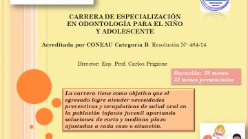 Carrera de Especialización en Odontología para Niños y Adolescentes