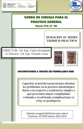 Curso de Posgrado Cirugía para el Práctico General
