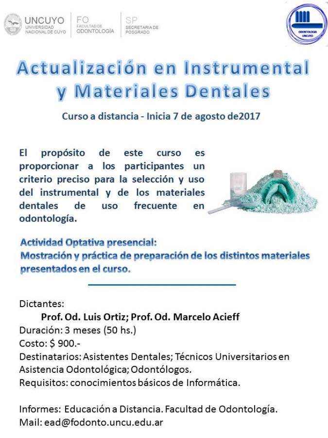 Instrumental y materiales dentales