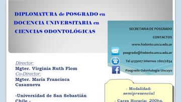 Diplomatura de Posgrado en Docencia Universitaria en Ciencias Odontológicas