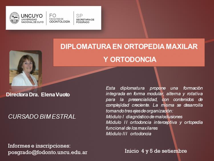 Diplomatura en Ortopedia Maxilar y Ortodoncia