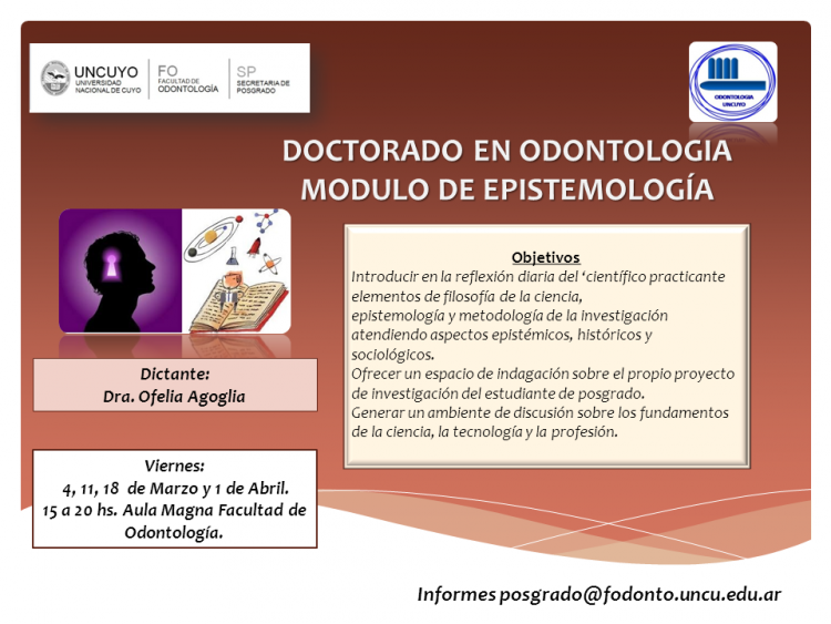 Doctorado en Odontología: Módulo de Epistemología