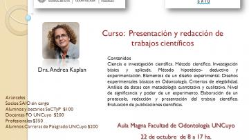 """Curso: """"Presentación y redacción de trabajos científicos"""""""