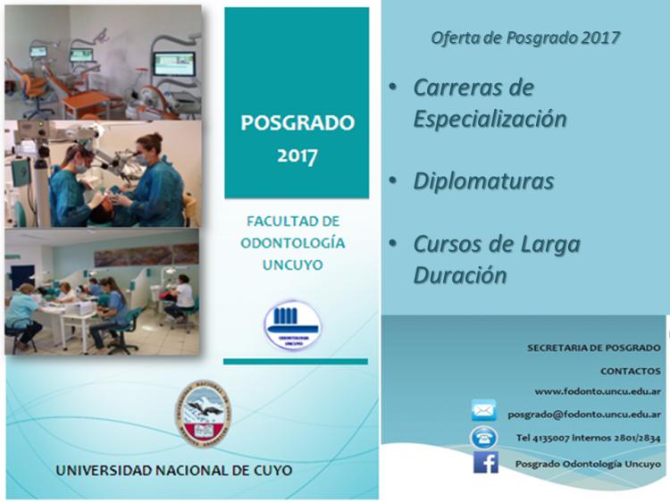 OFERTA DE POSGRADO 2017