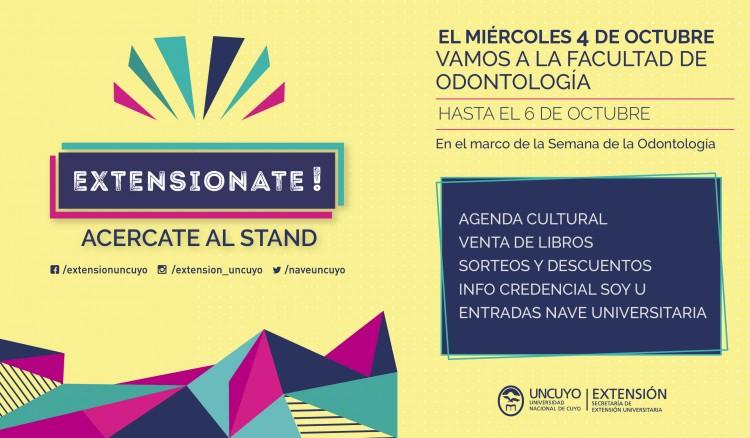 El stand itinerante «Extensionate» visitará la Facultad de Odontología