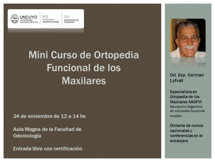 Mini curso de ortopedia funcional de los maxilares