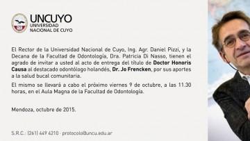 Honoris Causa: Dr. Jo Frencken