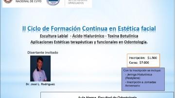 II CICLO DE FORMACIÓN CONTÍNUA EN ESTÉTICA FACIAL