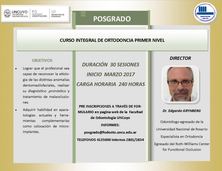 Cursos 2017 - Od. Esp. Edgardo Grymberg