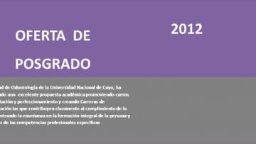 Oferta de Posgrado 2012