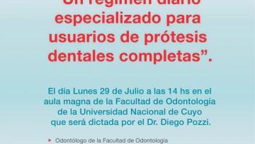 Charla: Un régimen diario especializado para usuarios de prótesis dentales completas