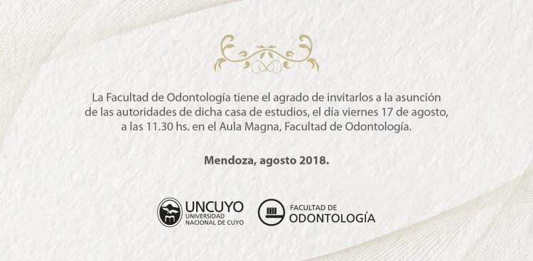 La Facultad de Odontología celebra la asunción de autoridades