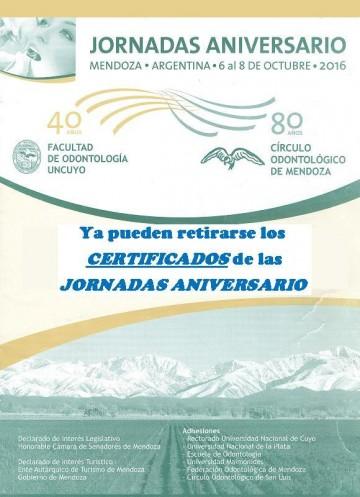 CERTIFICADOS JORNADAS ANIVERSARIO
