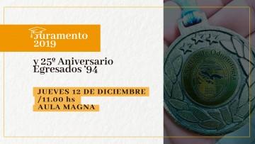 """Habrá Juramento de nuevos Profesionales, y reconocimiento a Egresados """"94"""