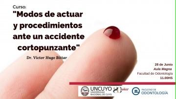 """""""Modos de actuar y procedimientos ante un accidente cortopunzante"""" por el Dr. Victor Hugo Bittar"""