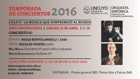 """Orquesta Sinfónica UNCuyo: """"Grandes Clásicos de Siempre"""""""