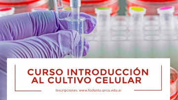 """Se acerca el curso """"Introducción al cultivo celular"""""""