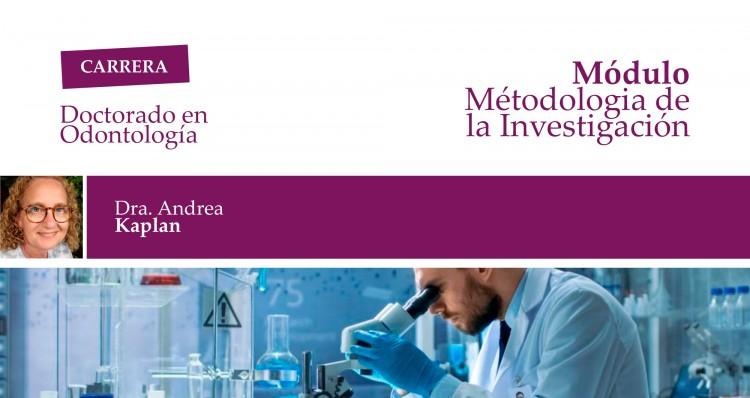 """En el marco del Doctorado, se brindará el módulo """"Métodología de la Investigación"""""""