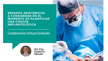 Se brindará una Conferencia Virtual Gratuita sobre Cirugía Implantológica