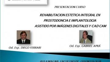 """Presentación de curso """"Rehabilitación estética integral"""""""