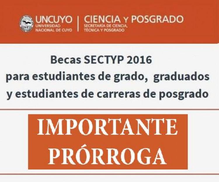 Prórroga Becas SECTYP 2016