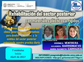 REHABILTACIÓN DEL SECTOR POSTERIOR CON MATERIALES  DE INSERCIÓN PLÁSTICOS Y RÍGIDOS