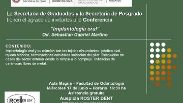 Conferencia en Implantología Oral