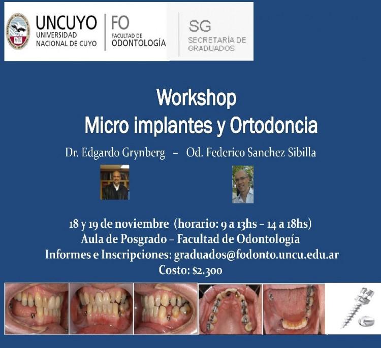 Workshop Micro implantes y Ortodoncia