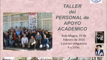 Taller para Personal de Apoyo Académico